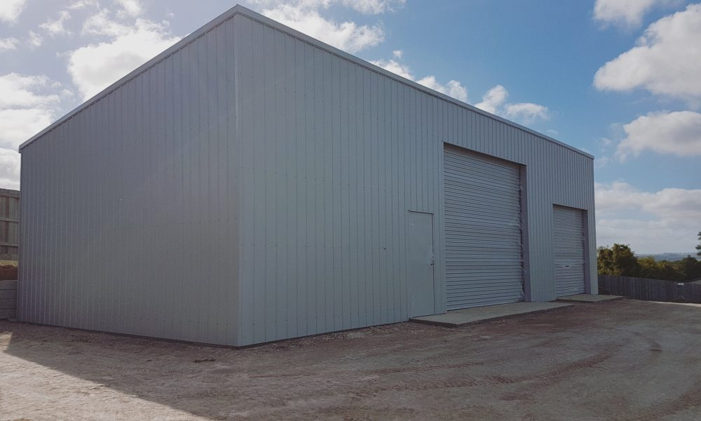 2-door equipment shed