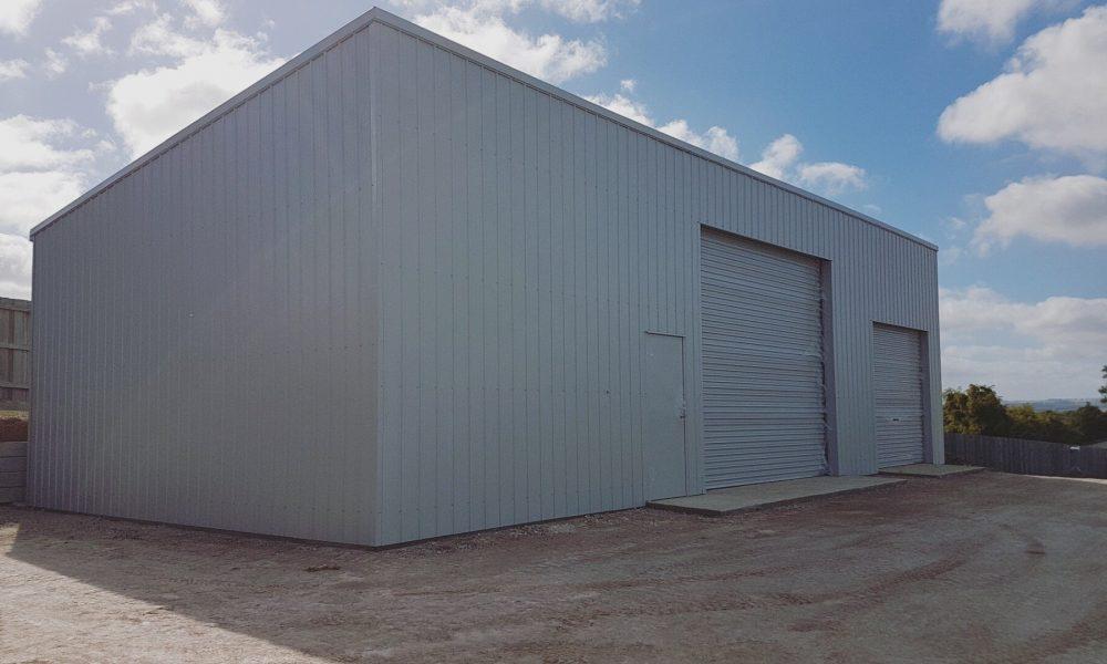 2-door equipment shed
