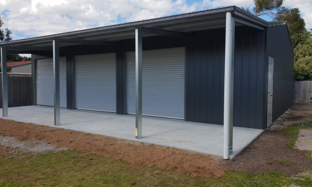 Morley shed with open awning