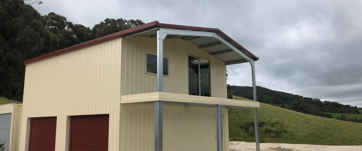 2-storey shed with balcony
