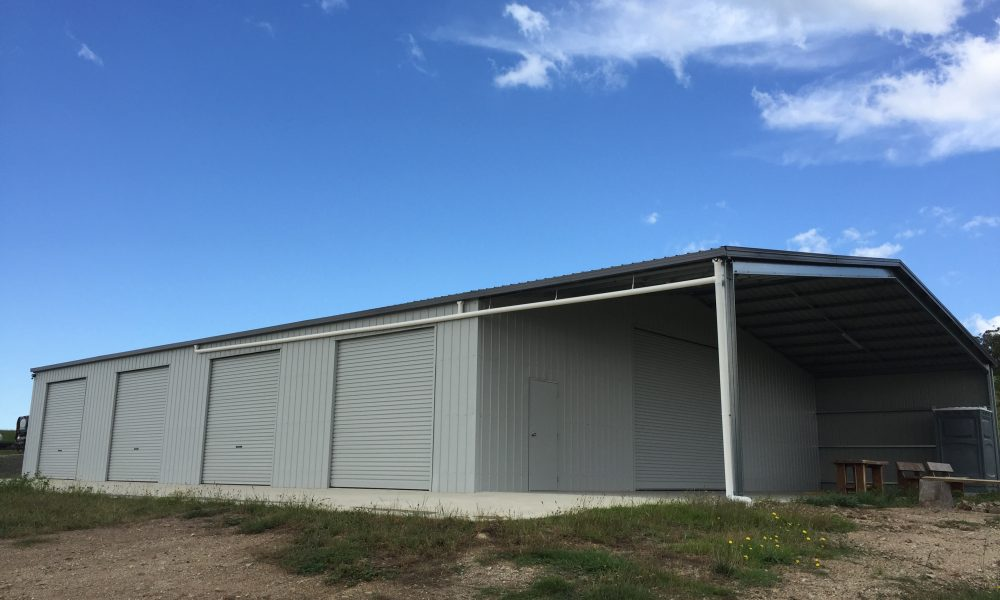 4-door equipment shed